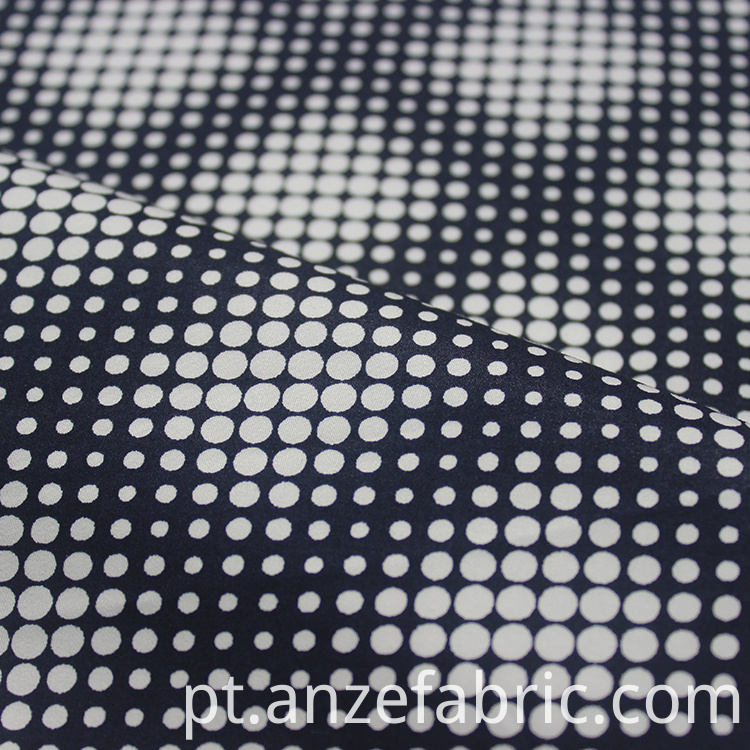 white polka dot sateen fabric