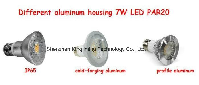 Hot Sale 7W COB LED PAR20, Dimmable LED PAR Light