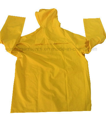 PVC/Polyester PVC Waterproof Outdoor Workwear Clothing Raincoat Rainsuit (RWB03)