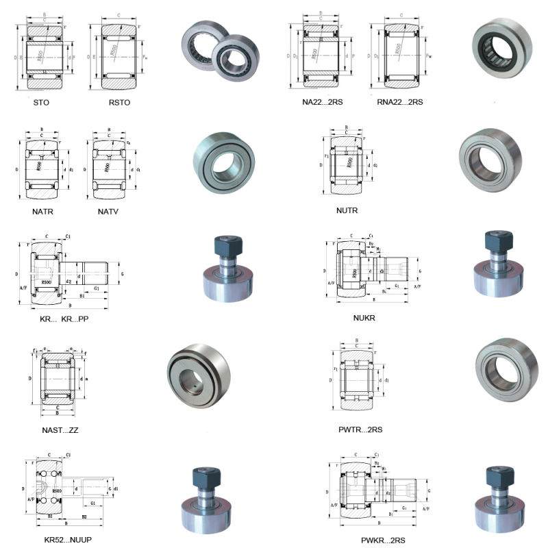 Stud Type Track Roller Bearing Cam Follower Kr Nukr Series