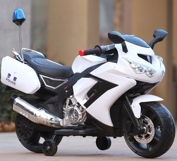 3 Wheel Electric Ride on Plastic Toy Police Motorbikes for Kids