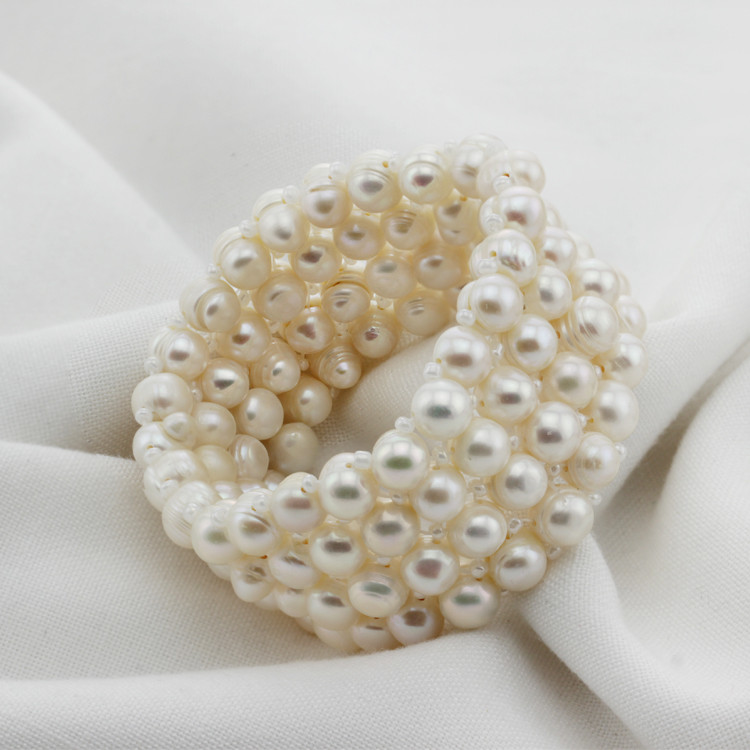 4rows Designs Wholesale Real Cultured Freshwater Pearl Bracelet