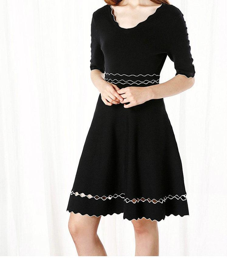 Elegant Women Half-Sleeve Medium Dresses 2018