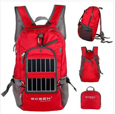 Fashion Foldable Solar Backpack with Solar Panel Charger (SB-158)