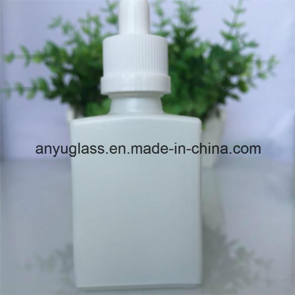 Milk White Essential Oil Glass Bottle with Plastic Aluminium Cap