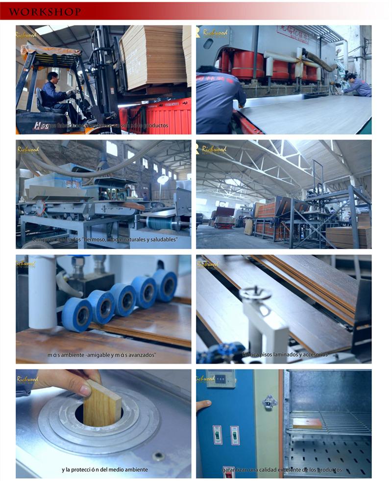 Spanish Imported Paper Made AC4 E0 HDF Parquet Laminated Flooring