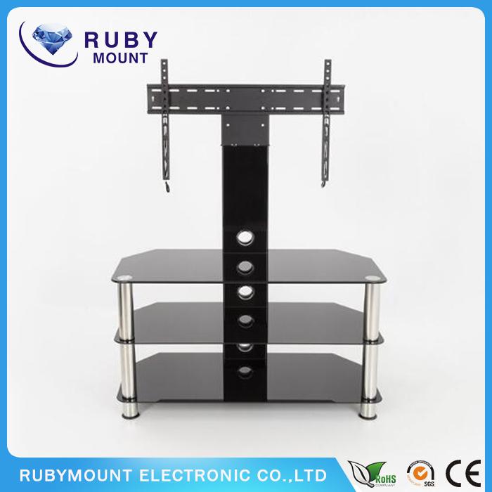 Sleek Design Heavy-Duty Steel Construction TV Center Stand