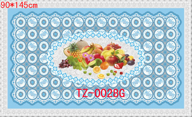Hot Popular All in One Independent Design LFGB Transparent Printed Tablecloth 90*145cm (TZ-0030B)