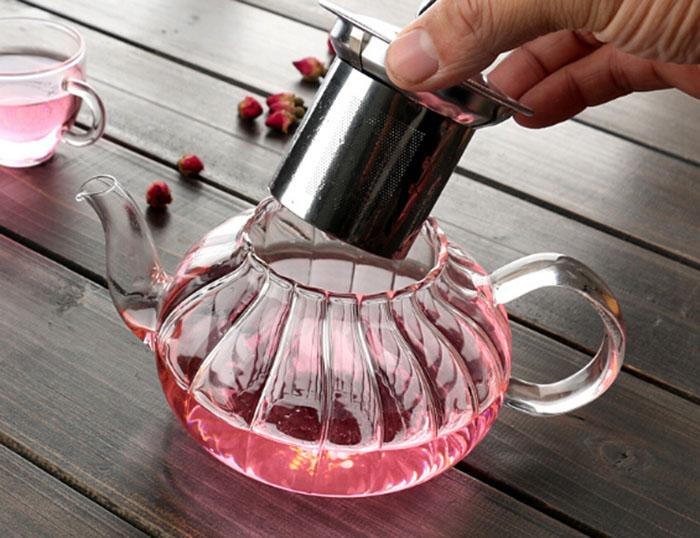 650ml New Design Nampkin Heat Resistance Glass Teapot