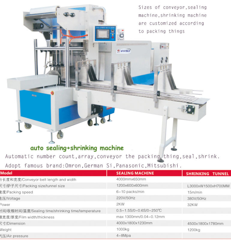 St6030 Automatic Sleeve Sealing Machine L Bar Sealer for Big Box Case Board with POF PVC Film