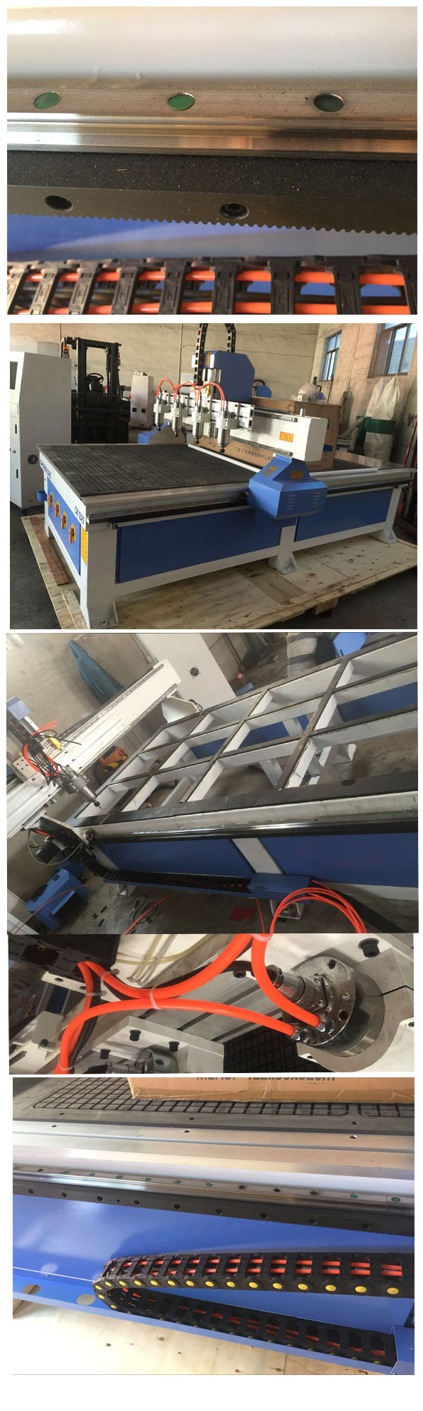 Newly Designed Hot Sale Woodworking CNC Router Machine with Heavy Duty Frame