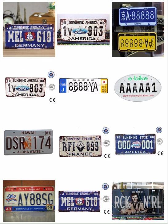 Original Design Aluminum Reflective Car Plate