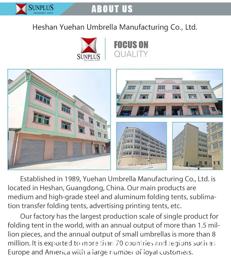 Yuehan folding canopy factory