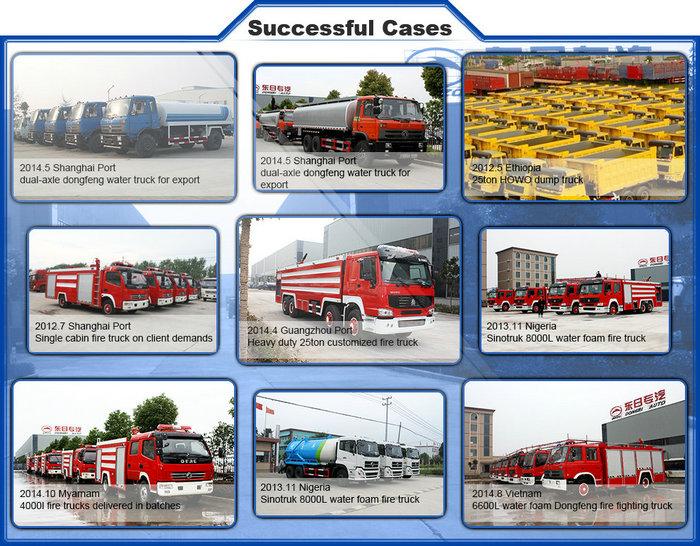 6ton Dongfeng Tianjin Water Foam Optional Fire Truck Euro3