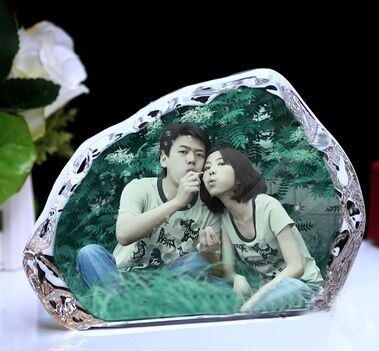 Crystal 3D Laser Photo Frame