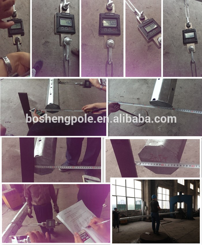 Galvanized Conical Polygonal Electric Metal Post Steel Pole