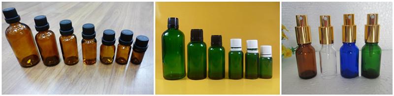 Glass Dropper Bottle for Essential Oil Green Blue Amber