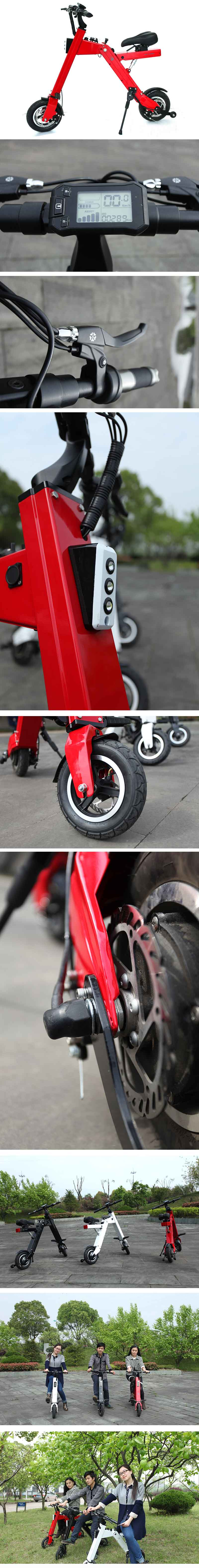 Red White Black Mini Foldable Scooter 250W
