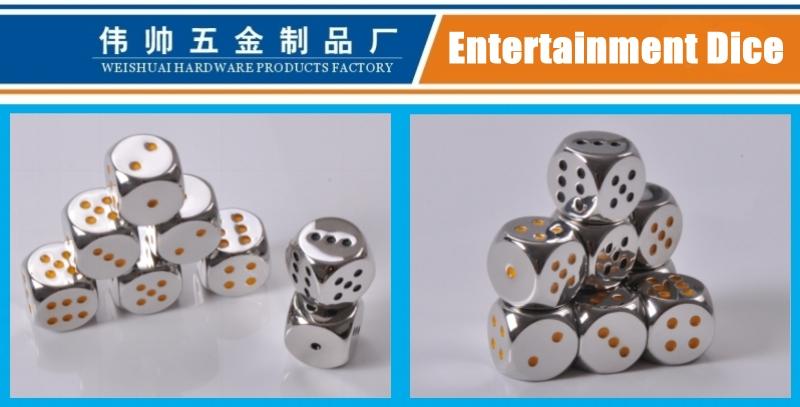 Entertainment Dice Made of Zinc Alloy, Casino Supplies, High-Grade Metal Dice, Gambling