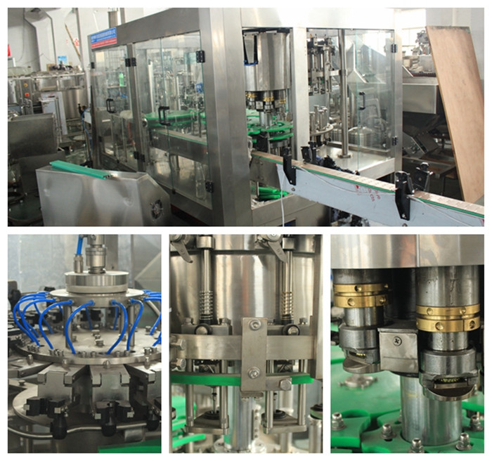 PLC Control 8000bph 3in1 Carbonated Filling Machine (24-24-8)