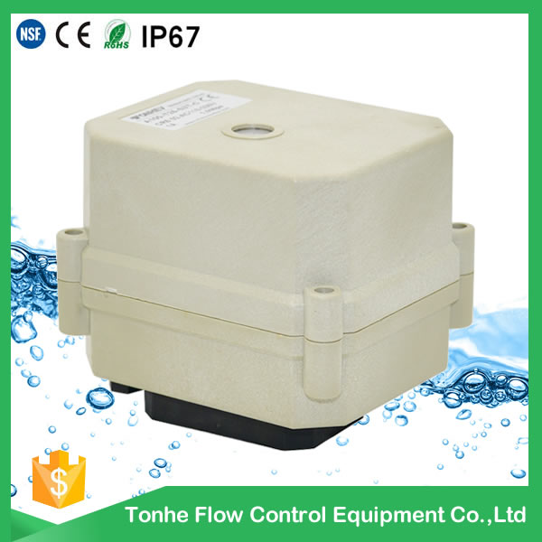 24VDC Electric Motorized Actuator Ball Valve Without Manual Override