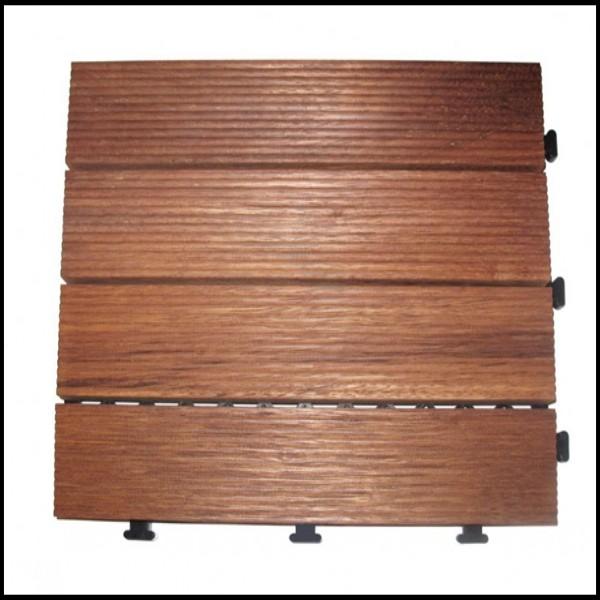 Grooved Surface Merbau Decking Tiles