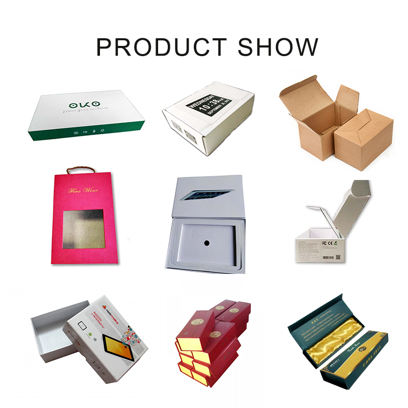 Full Color Customized Gift Packaging Box with Handle