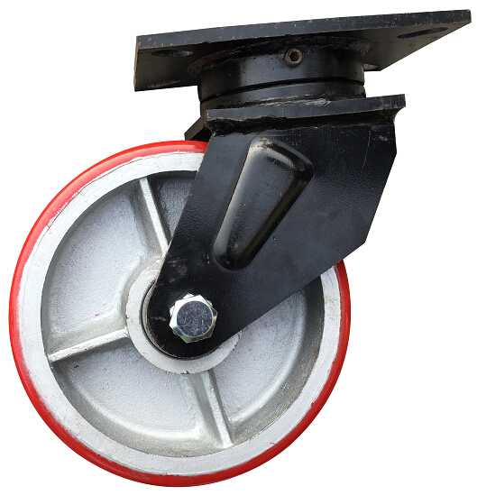 Iron Core PU 1.4ton Load Capacity Super Heavy Duty Industrial Casters