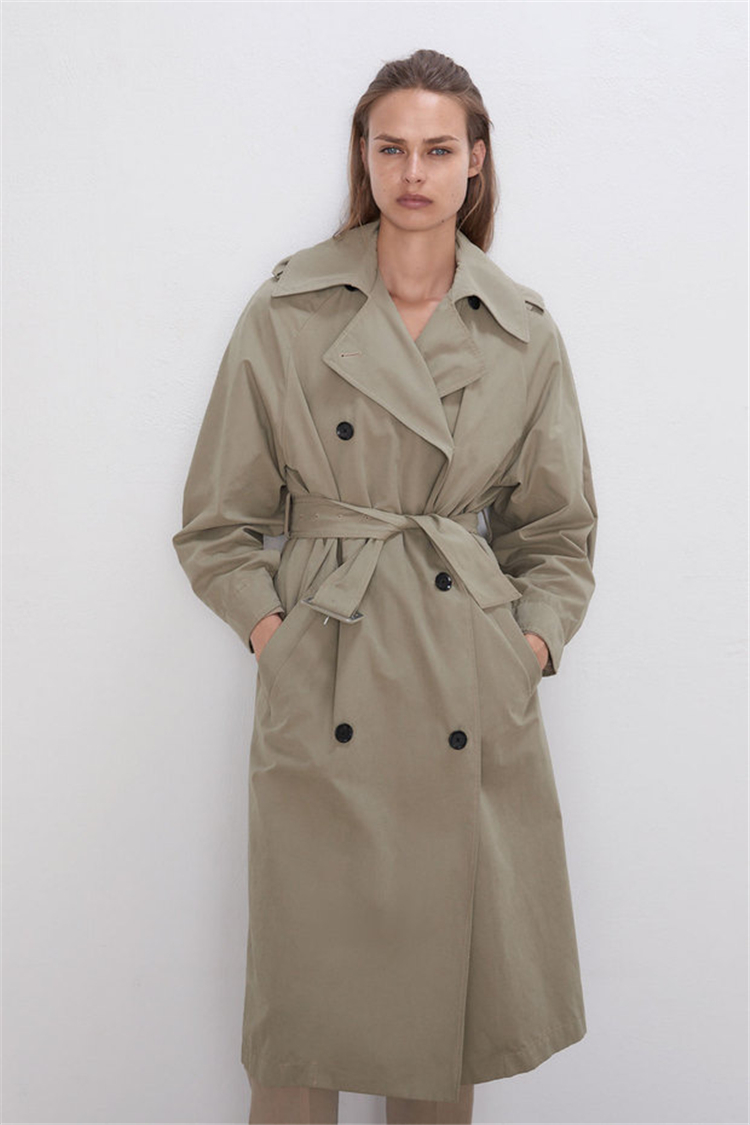 Embroider Trench Coat