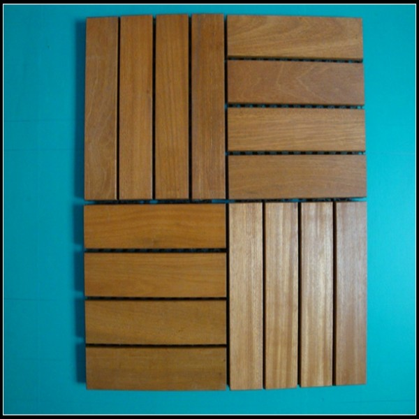 4 Strips Balau Outdoor Decking Tiles