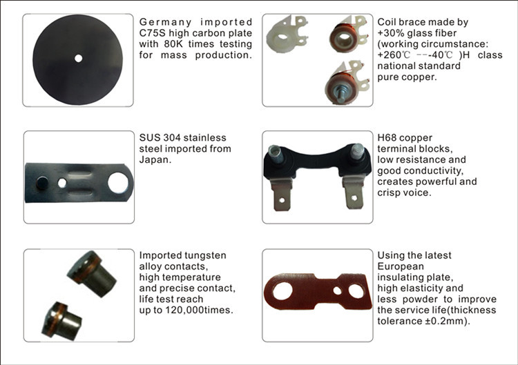 Hella Type Compact Car Horn, Electric Snail Horn Copper Coil