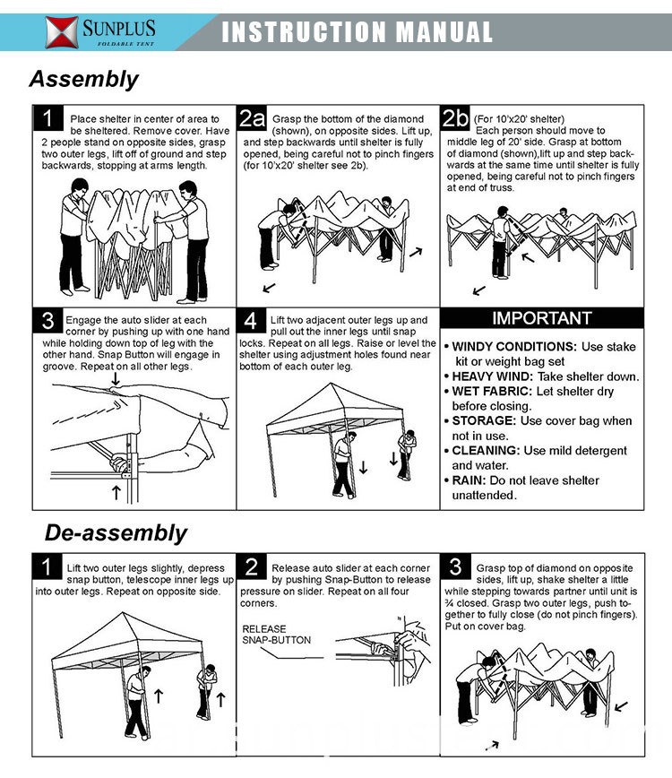 easy up canopy instruction manual