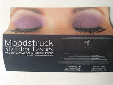 Waterproof 3D Fiber Eyelashes Mineral Cream 2 PCS /Set Mascara