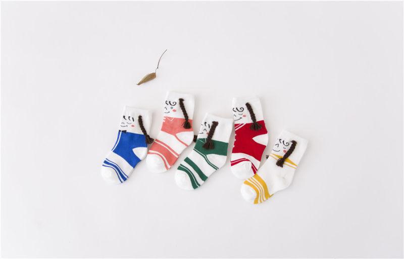 Hot Sale Little Girl Cute Cotton Socks Fancy Plait Designs Beautiful Looking
