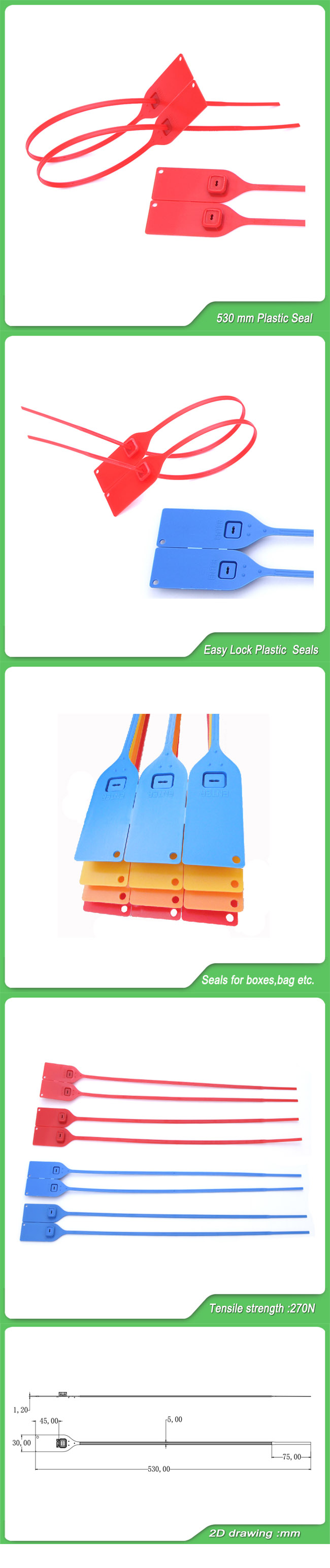 Security Seal (JY-530) , Disposable Plastic Safety Seal