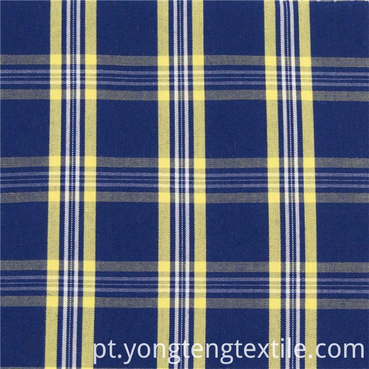 Colorful yarn dyed 100%cotton plaid fabric for dress