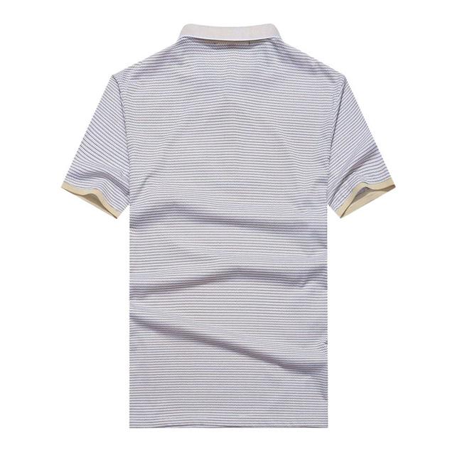 Xxxl Men Slim Fit Striped Polo Shirt