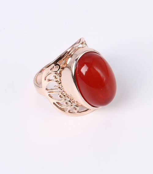 Fashion Jewelry Ring with Glass Beads