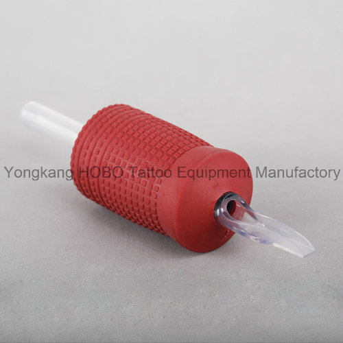 Cheap Machine 30mm Red Silicone Disposable Tattoo Tubes with Tip