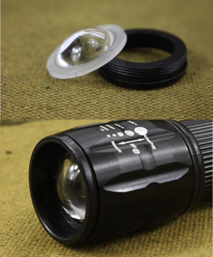 3W Mini Hotel Zoom Flashlight LED Emergency Torch Gift Torch