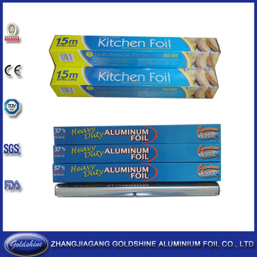 37.5 Sqft Household Aluminum Foil Roll for Food Packaging