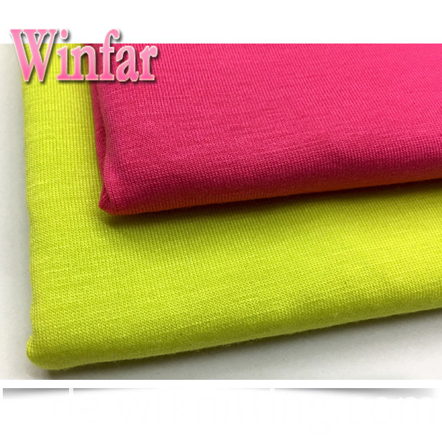 Single Jersey Polyester Spandex Knit Fabric