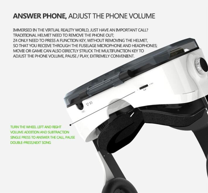 Google Cardboard Headmount Vr Box Wireless Bluetooth Remote Vr Virtual 3D Glasses