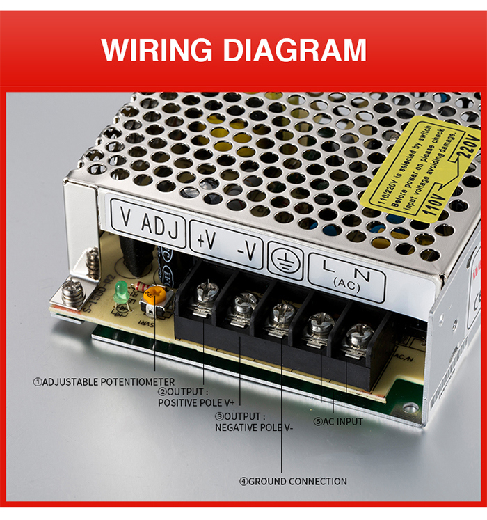 China Supplier WEHO 15W 5V DC Power Supply
