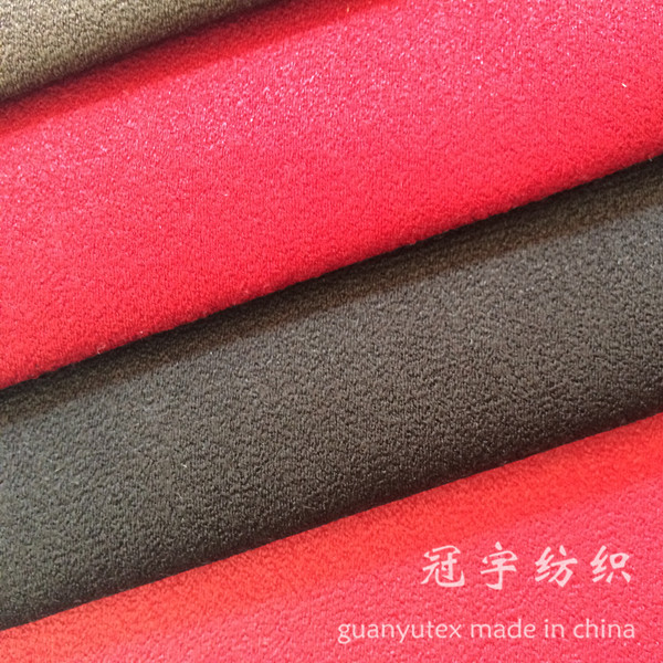 Suede Leather Imitation Polyester Fabric for Furniture