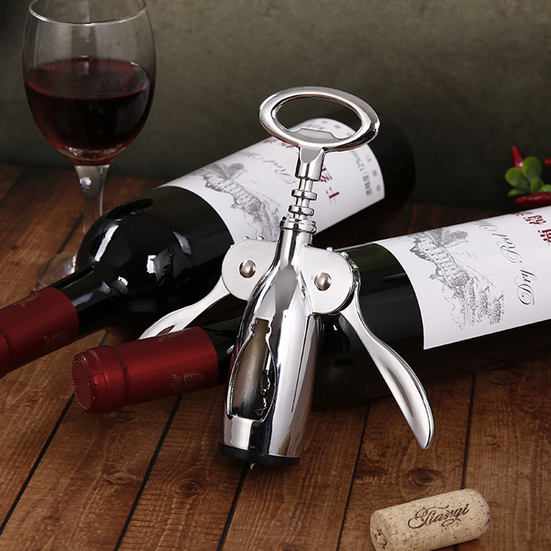 Stainless Steel Wing Corkscrew Easy Open Wine Bottle Opener
