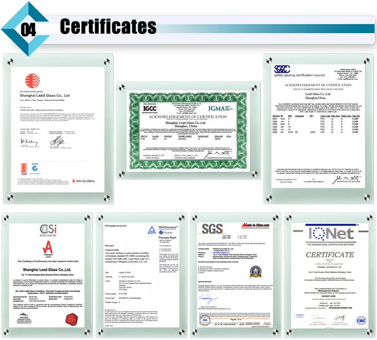 laminated glass certificate
