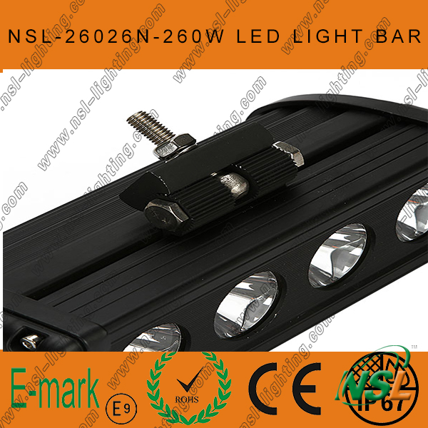 47inch 260W CREE LED Light Bar, Flood Euro 4WD Boat Ute Driving Work Lights, New 10W Range LED Sr Light Bar