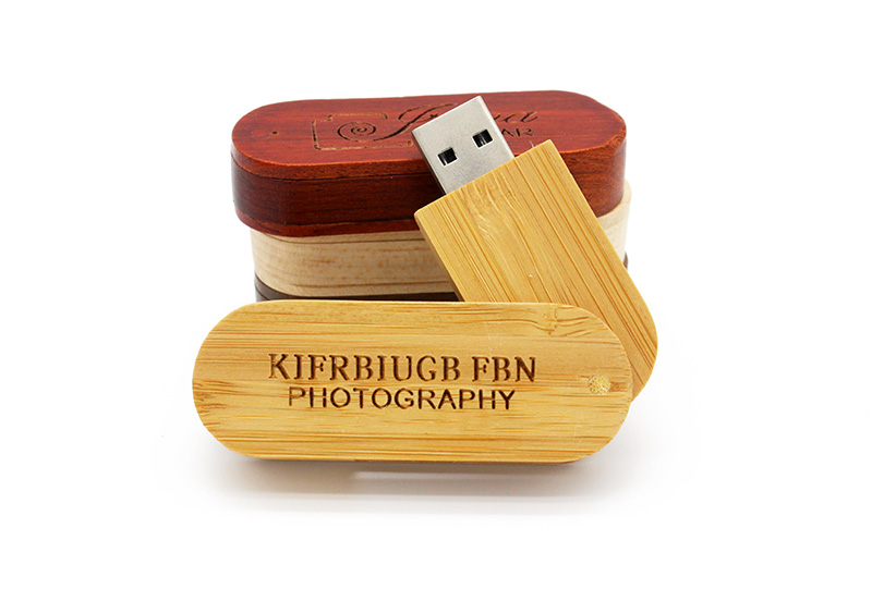 Wood Usb Flash Drive with Box