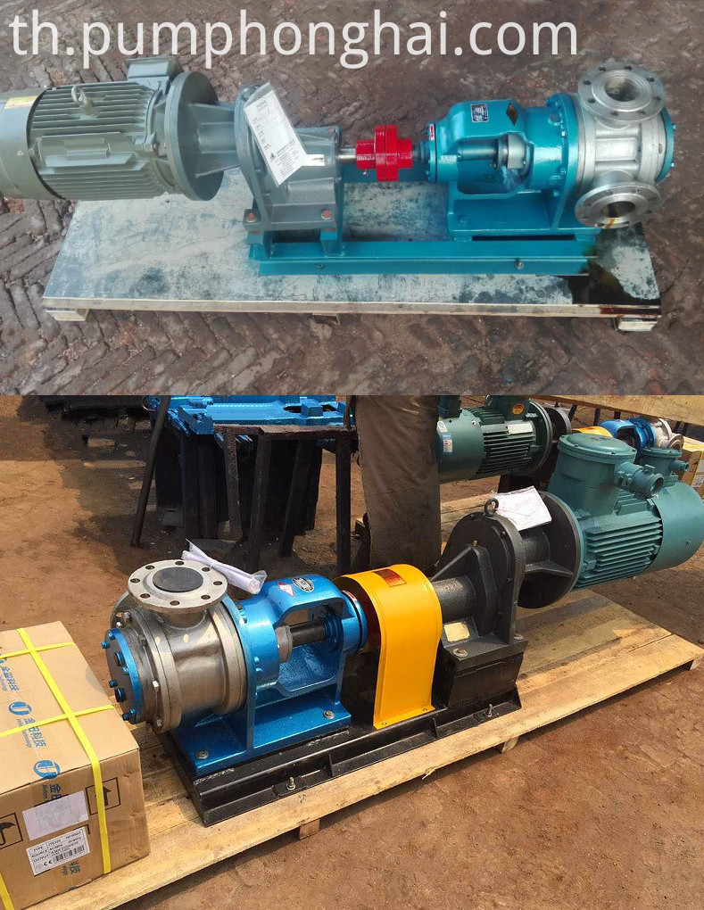 Internal gear pumps transport high viscous glycerine